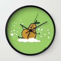 Goat Cheese & Pears Wall Clock