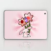 Little Pink Bunny With F… Laptop & iPad Skin