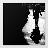 Me, myself and my shadow Canvas Print