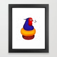Jumpin' Joe Bird Framed Art Print