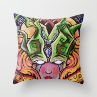 Mystical Woman Throw Pillow