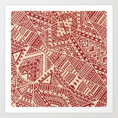 Tribal (red)  Art Print