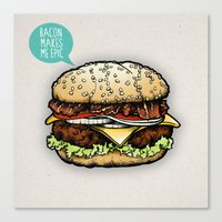 Epic Burger Canvas Print