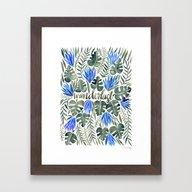 Tropical Wanderlust – … Framed Art Print