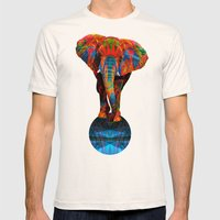 Elephant Mens Fitted Tee Natural SMALL