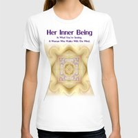 Her Inner Being Womens Fitted Tee White SMALL