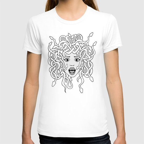 foolish medusa (b&w) T-shirt