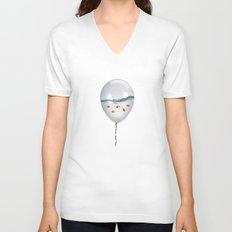 balloon fish Unisex V-Neck