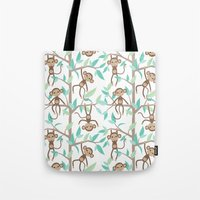 Monkey Jungle Tote Bag
