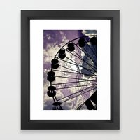 On Lavender Clouds Framed Art Print