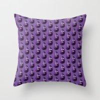 Funny Cartoon Eggplant P… Throw Pillow