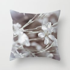 Faded Blooms Throw Pillow