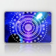 Electric Blue Universe Laptop & iPad Skin