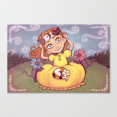 a crown of kitties Canvas Print