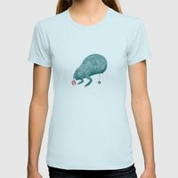 Monster Womens Fitted Tee Light Blue SMALL