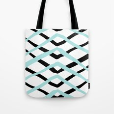 Pattern, turquoise and black Tote Bag