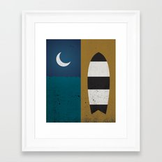 Board & Moon Framed Art Print