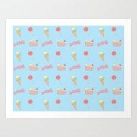 Candy Pattern Art Print
