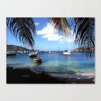 serene harbor Canvas Print