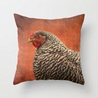 Red Chicken Throw Pillow
