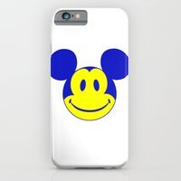 iPhone & iPod Case featuring Mickey Mouse Smiley Face #1 by justlikeandy.co.uk Andy Warhol-style