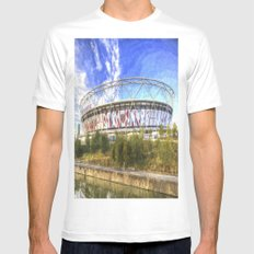 West Ham Olympic Stadium London Art Mens Fitted Tee White SMALL