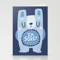 I'm Sorry Blue Bear  Stationery Cards