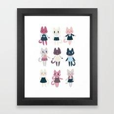 Adorable Fashion Kittens Framed Art Print