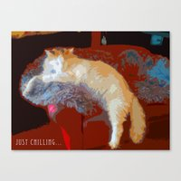 Just Chilling... Canvas Print
