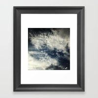 Up In The Sky. Framed Art Print