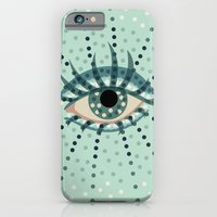 Dots And Abstract Eye iPhone 6 Slim Case