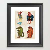 Costumes - Animalados Framed Art Print