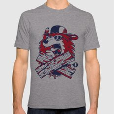 Old School Bear Mens Fitted Tee Athletic Grey SMALL