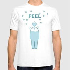 FEEL White SMALL Mens Fitted Tee