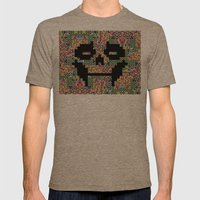 The Black smiles Mens Fitted Tee Tri-Coffee SMALL