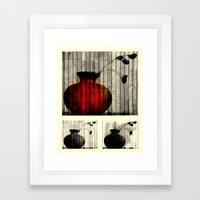 Vase Collage (focal) Framed Art Print