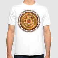 Four Dragons Mandala Mens Fitted Tee White SMALL