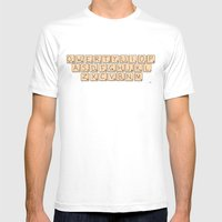 Qwerty Scrabble  Mens Fitted Tee White SMALL