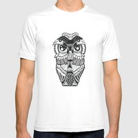 Wise Owl Mens Fitted Tee White SMALL