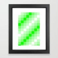 Design3 Lime Green Framed Art Print
