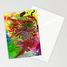 Aries, The Angry Ram: Mar 21 - Apr 20 / ORIGINAL GOUACHE ON PAPER Stationery Cards