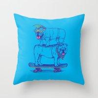 Double Dog Dare Throw Pillow