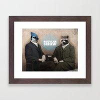 Mordecai & Rigby Framed Art Print