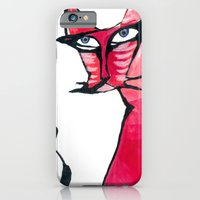 iPhone & iPod Case featuring CAT by yukumi