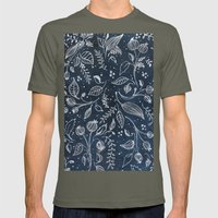 Metallic Floral Mens Fitted Tee Lieutenant SMALL