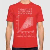 Chances of Seeing a Unicorn Mens Fitted Tee Red SMALL