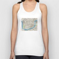 New Orleans City Map Unisex Tank Top