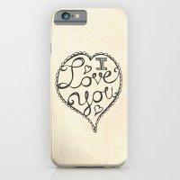 I Love You Sketch iPhone 6 Slim Case