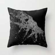 Buenos Aires Map Argenti… Throw Pillow