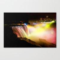 Niagara Falls At Night Canvas Print